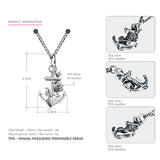 TARDOO 925 Sterling Silver Suspension Necklace for Women Anchor & Flower Pendant Necklace Fine Jewelry 2017 New Year Gifts