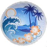 Summer  Large Microfiber Printed Round Beach Towels With TasselBohemian New Style 150cm  For Adults Drap De Plage