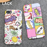 LACK Fashion Hard PC Case Sexy Girls Graffiti Letter Cartoon Cover For iphone 6 Case For iphone 6S 7 7 PLus Phone Cases Coque