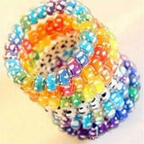 10pcs/lot Ropes Donut Bun Maker Former Twist Tool Styling Wholesales Support Elastic Ponytail Holders Hair Band Ring