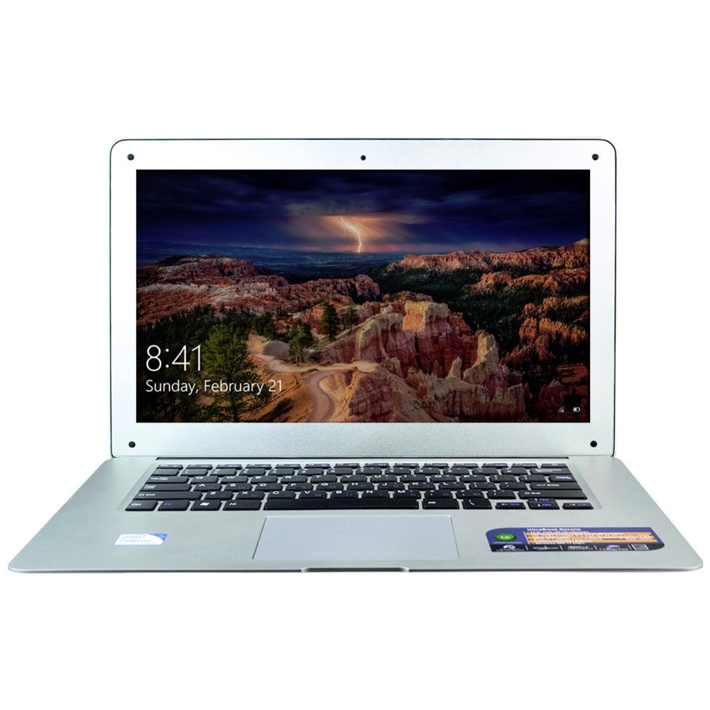 HZONE 14 Inch Laptop Computer with Celeron J1900 Quad Core 8GB RAM & 320GB HDD Windows 10 Pro Mini HDMI 1.30 Webcam