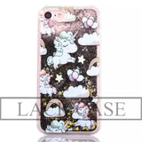 Fantastic Unicorn Animal Horse Dynamic Liquid Glitter Capa Lovely Cartoon Phone Cases Cover For iPhone 7 Case For iphone7 7 Plus