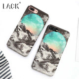 LACK Fashion Cool Moon Space Starry Sky Case For iphone 7 Case For iphone7 6 6S Plus Hard Cover Beauty Snow Mountain Phone Cases