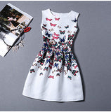 Fashion Bottoming Dress Summer Style New Women Dress Vintage Printing Sexy Party Dresses vestidos Leisure Plus Size Summer Dress