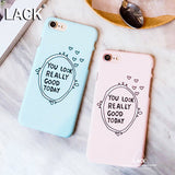 LACK Lovely Candy Color Letter Case For iphone 7 Case Fashion Hard Slim Cover Phone Cases For iphone7 6 6S Plus 5 5S Capa Coque