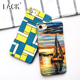 LACK Geometry Case For iphone 7 Case Colorful Graffiti Oil Painting Phone Cases Fashion Slim Frosted Cover For iphone7 6 6S PLus