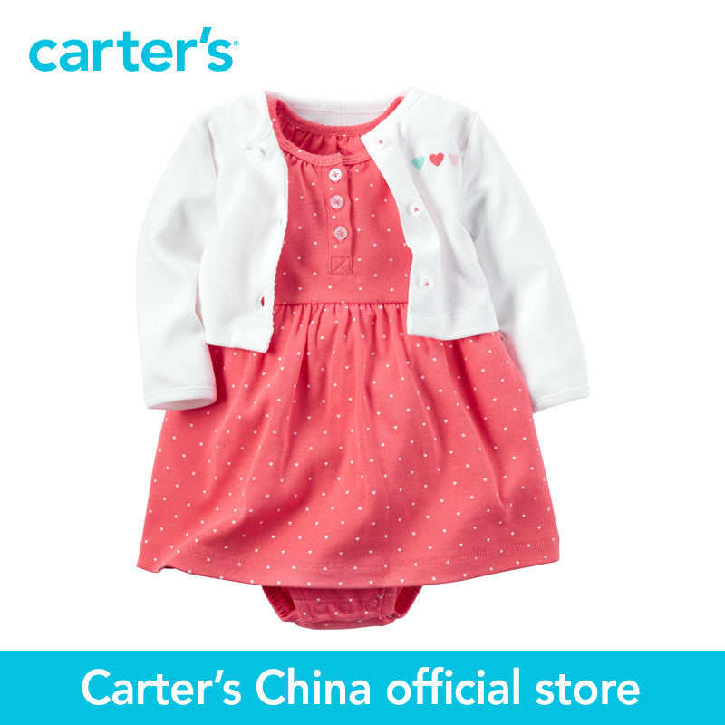 Carter's 2 pcs baby children kids  Babysoft Bodysuit Dress & Cardigan Set 126G285, sold by Carter's China official store