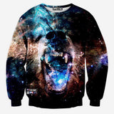 Space/galaxy 3d sweatshirt men 3d hoodies harajuku style funny print nightfall trees sudaderas hombres 2015 Free Shipping