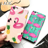 LACK Flamingos Phone Case For iphone 7 Case Cartoon Fruit Animal Cover Fashion Heart Camera Window Cases For iphone7 6 6S PLus