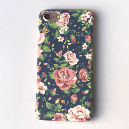 LACK Cartoon Roses Phone Case For iphone 6 Case Luxury Ultra thin frosted Cover Colorful Flowers Capa For iphone 6S 7 Plus Coque