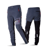 ACACIA  Black Grey Breathable Soft Bicycle Safety Reflective Elastic Waist Pants Spring Autumn Men Cycling Long Pants 02997