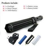 Tactical Baseball Bat Zoom LED CREE XML T6  Flashlight Self defense Torch  2800 lm 5 Mode Use 18650 Rechargeable Battery OR AAA