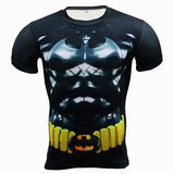 New Gym Fitness Compression Shirt Men Anime Superhero Punisher Skull Batman Superman 3D T Shirt Bodybuilding Crossfit tshirt