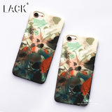 LACK Graffiti Case For iphone 6 Case Colorful Cartoon Watercolor Painting Cover Fashion Hard Phone Cases For iphone 6S 7 7 Plus