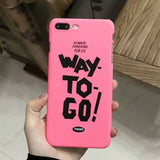 LACK Fashion Cartoon Letter Case For iphone 6 Case Ultra Slim Hard Phone Cases Cover For iphone 6S 7 7 Plus 5 5S Capa Way To Go