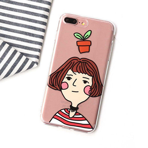 LACK Phone Case For iphone 6 Case Professional Killer Leon and Mathilda Cover Cute Cartoon Soft TPU Cases For iphone 6S 7 7 Plus