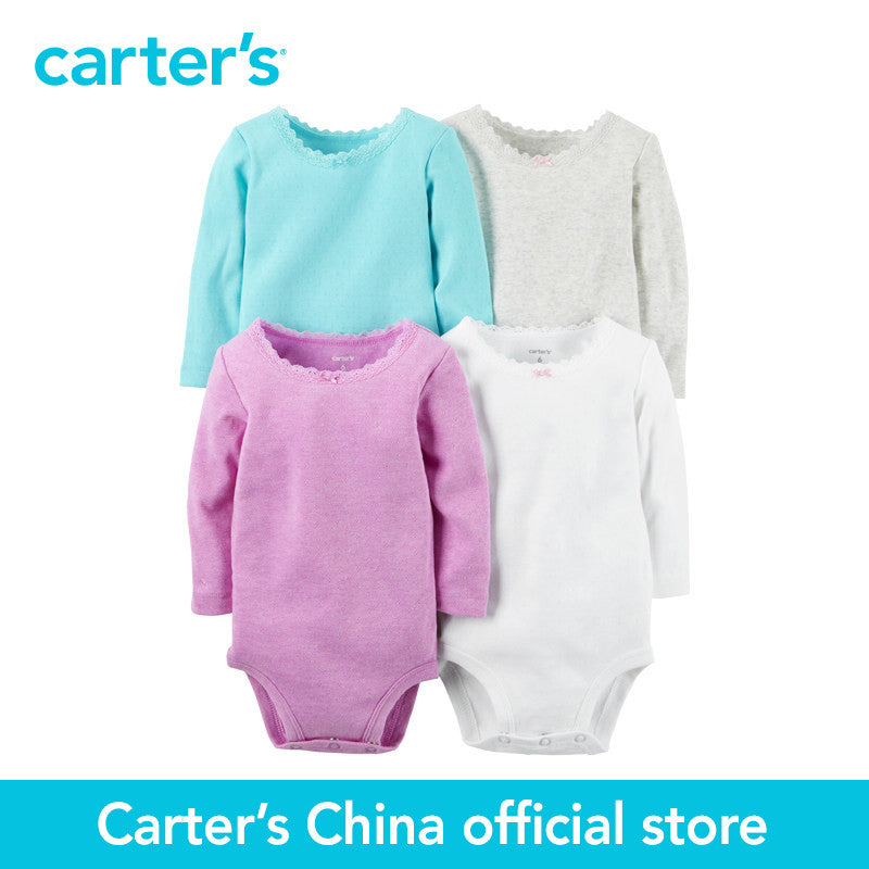 Carter's 4 pcs baby children kids Long-Sleeve Bodysuits 126G337, sold by Carter's China official store