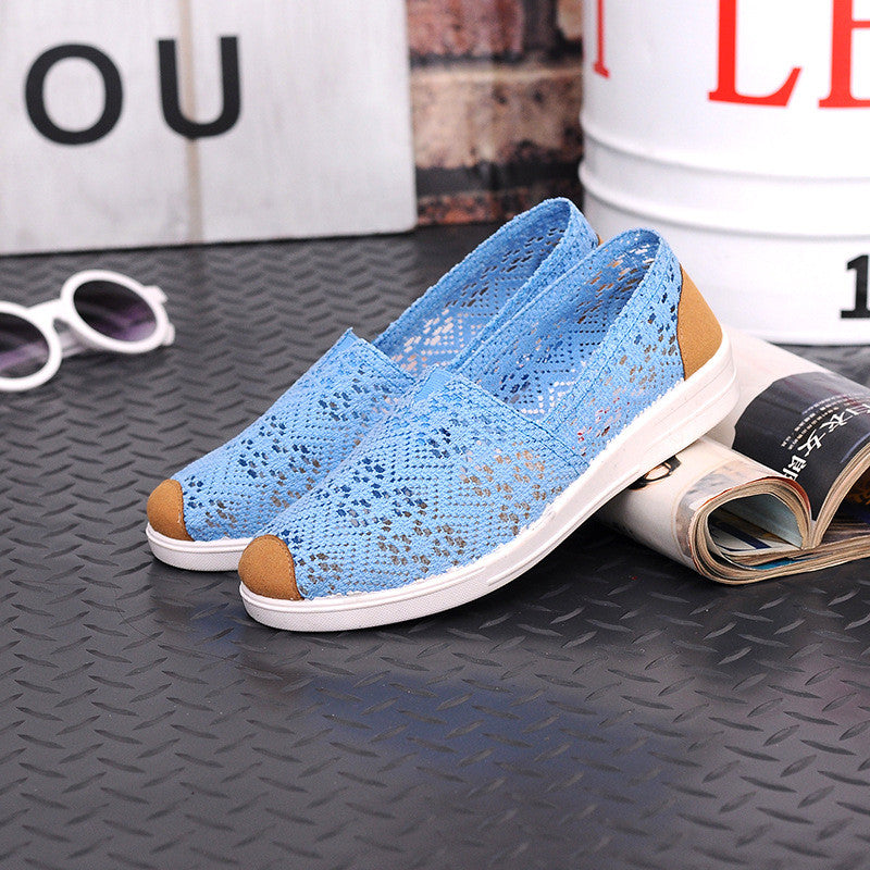 2016 Brand New Women Casual Flat Shoes Walking Beathable Dance DriveHollow Slip-on Lazy Lofter Summer 38/39/40 Large Plus Size