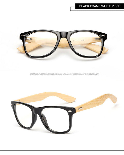 Long Keeper 2017 Retro Bamboo Glasses Frame Men Women Eyeglasses Wood Spectacle Frames Wooden Temple Foot Eyewares Optical