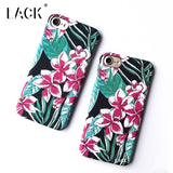 LACK Phone Case For iphone 7 6 6S Plus Capa Fashion Cute Cartoon Flowers Back Cover Luxury Retro Floral Plastic Hard Cases Coque