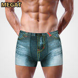 Male Print cowboy underwear cotton boxers panties breathable men's underpants underwear trunk brand shorts man boxer 4 colors