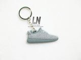 Cute Silicone Yeezy 350 Boost Keychain Sneaker Key Chain Kids Key Rings Key Holder Llaveros Chaveiro Porte Clef