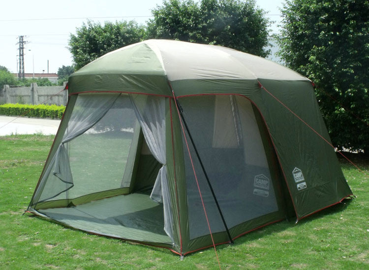 double layer garden tent for free 3 4 person camping tent family big China outdoor large 4 seasons waterproof 2 rooms