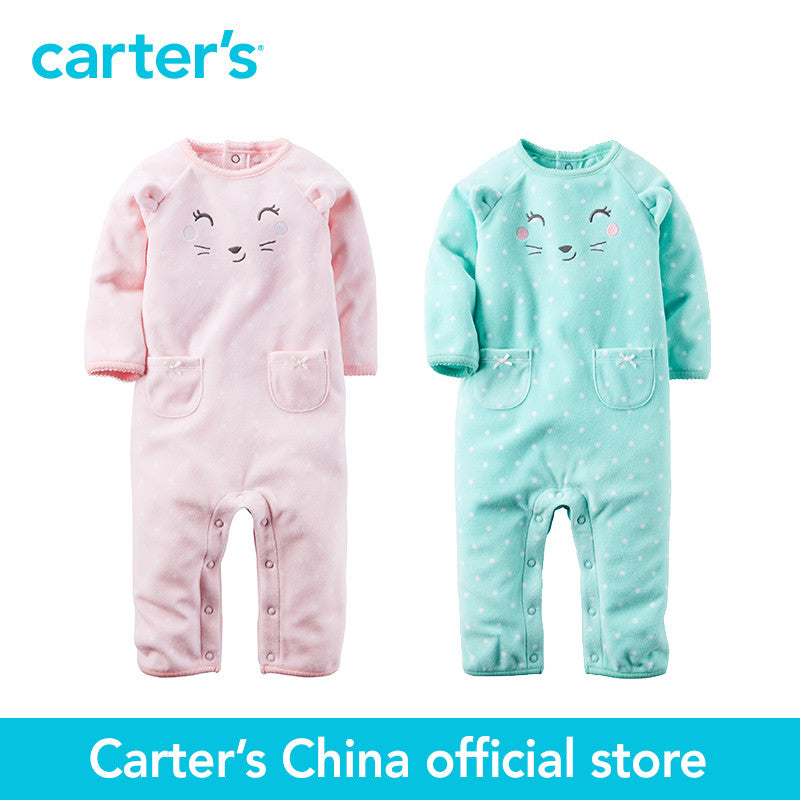 Carter's 1 pcs baby children kids Fleece Jumpsuit 118G629/118G633, sold by Carter's China official store