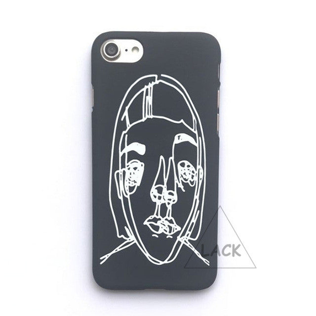 LACK Phone Case For iphone 6 6S 5 5S 7 Plus Abstraction Art Line Painting Back Cover Funny Cartoon Women Pattern Cases Hard Capa
