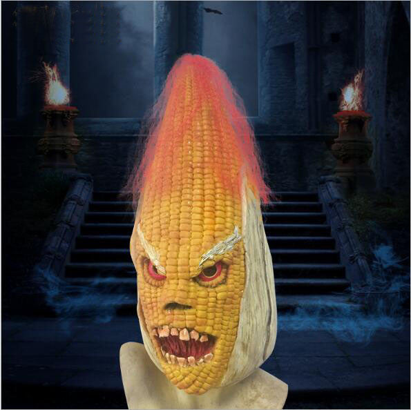 Hot 2017 New Design Toy Scary Maize Face Mask Halloween Costume Scary Latex Masquerade Plant Mask Demon Vampire Corn Party Props