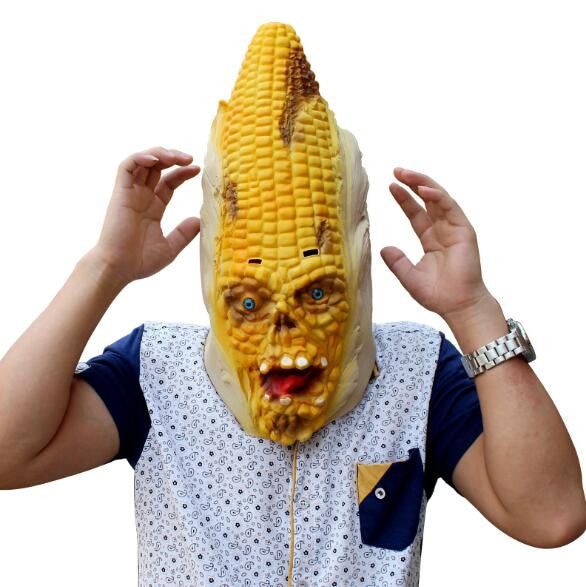 New 2017 Hot Sale Cosplay Plant Masks Halloween Latex Adult Funny Mask Horror Vampire Corn Mask Demon Scary Maize Mask Free Ship