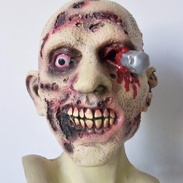 Halloween Cosplay Latex Bloody Zombie Mask Scary Vampire Mask Melting Face Walking Dead Scary Party Mask Mardi Gras Ball Mask