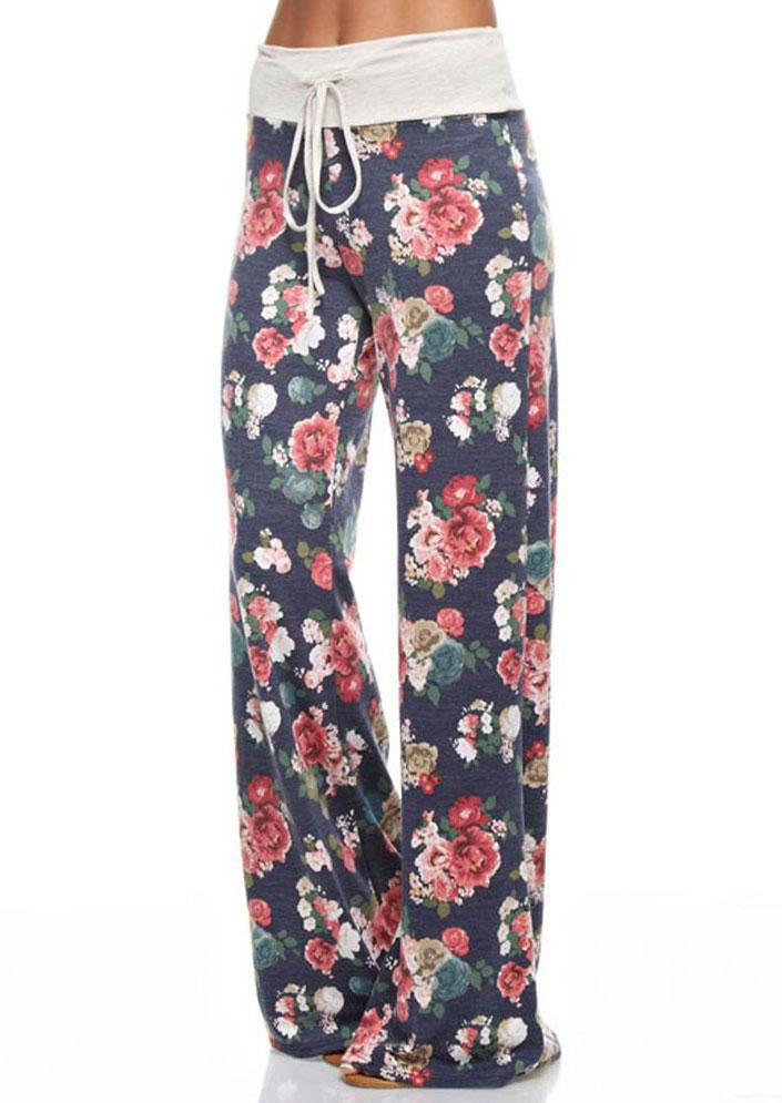 Pants Women 2017 Fashion Floral Printed Trousers Wide Leg Pants Pantalones Mujer Femme Oogji