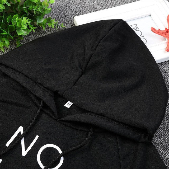 New Women Crop Tops Fashion Female Letter Printed Hoodies O-Neck Women's Full sleeve Sexy Pullovers Black White Sexy Cropped top