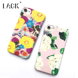 LACK Phone Case For iphone 6 6S 7 Plus Funny Luminous Cover Colorful Flowers Cases Fashion Cartoon Hard Coque Light in the Dark