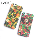 LACK Phone Case For iphone 7 6 6S Plus Cartoon Oil Painting Back Cover Colorful Fruit Orange Capa Cute Plants Flowers Leaf Cases