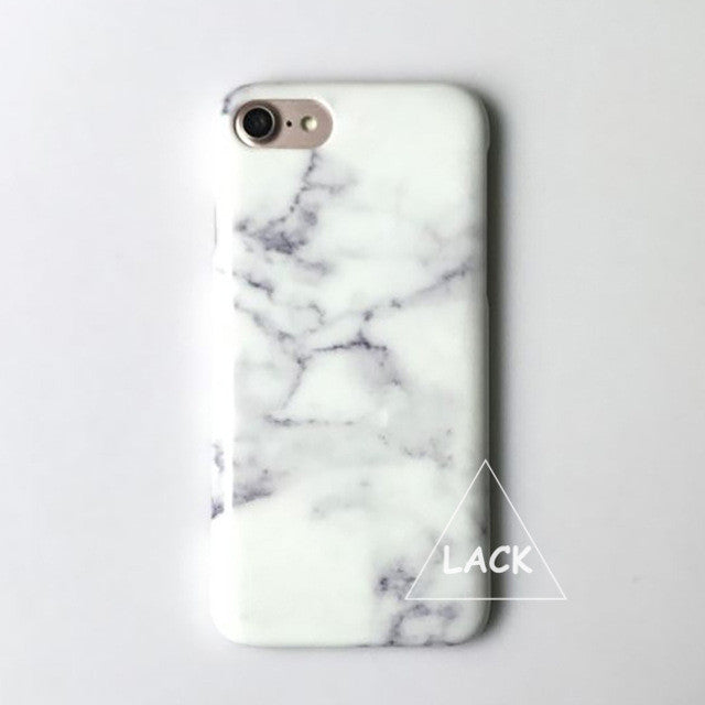 LACK Phone Case For iphone 7 6 6S Plus Marble Back Cover Classic Granite Stone Texture Hard PC Cases Fashion Slim Smooth Capa