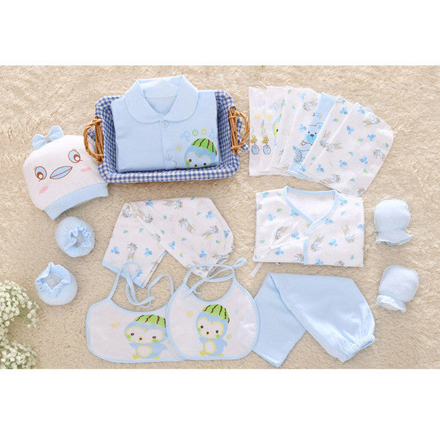 New 100% cotton 18pcs/set New born underwear clothes sets High quality newborn baby clothing gift set
