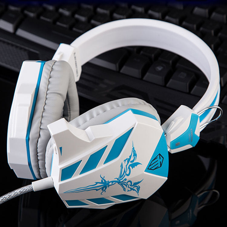 Gaming Headphone Over-ear Headset Earphones Headband with Mic Microphone PC LED Light Bass Stereo Laptop Computer Cosonic 618