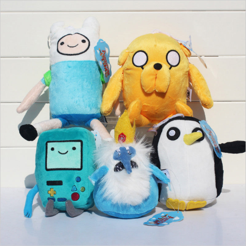 Adventure time Plush Toys 4style Jake Finn Beemo BMO Penguin Gunter Stuffed Animals Plush Dolls Soft Toys Free Shipping HT3043