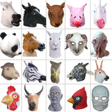 Creepy Horse Lion Octopus Hippo Rubber Animal Mask latex party Panda Animal Mask kids Party Halloween Masquerade Mask funny
