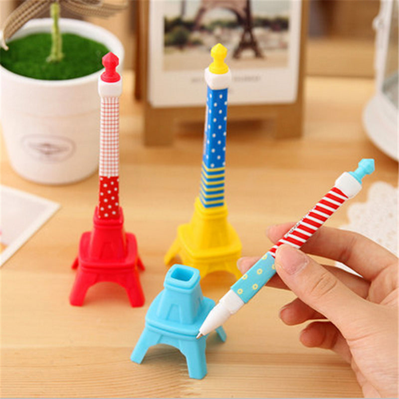 Eiffel Tower Ball Point Pen Creative Stationery Writing Pen School Gift