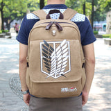 NEW Quality Shingeki no Kyojin Attack on Titan Backpack Schoolbag Shoulder Bag Bolsos De Imitation Men Knapsack Scouting Legion