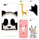 Cute Animal Panda Tpu Case For Iphone 6 Phone Cover Coque For Apple Iphone 6 6s Cartoon Soft Silicone Cases