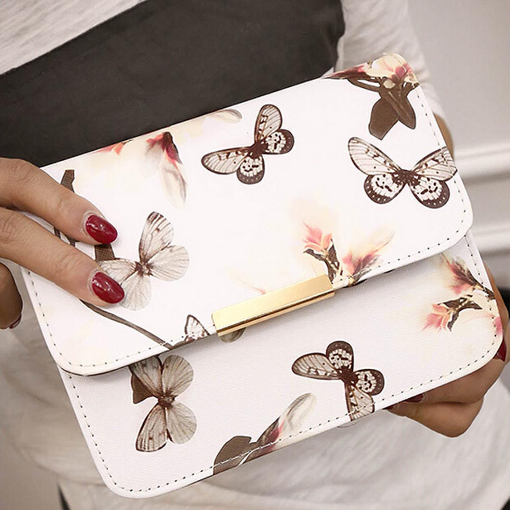 Women Floral leather Shoulder Bag Leather Handbag Retro Female Small Messenger Bag Famous Designer Clutch Shoulder Bags Bolsa