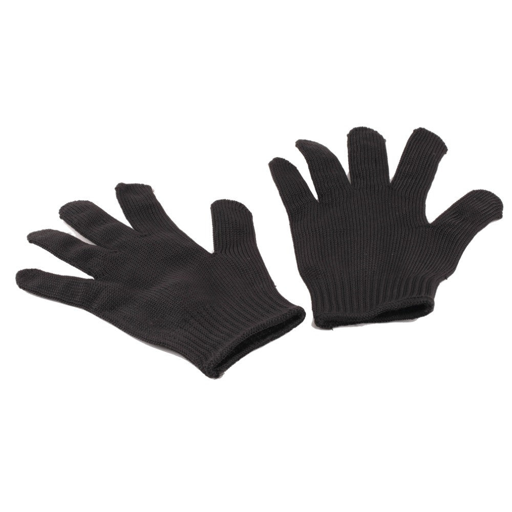 1 Pair Black Stainless Steel Wire Resistance Gloves Working Protective Elbow Safety Gloves Cut Resistant Anti Abrasion Gloves - Blobimports.com