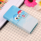 Anchor Tribe Eagle Cartoon Flag Print Wallet Style Flip Case For Apple iphone 4 4S Stand PU Leather Phone Protective Cover Bags