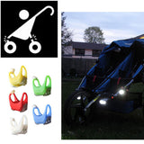 Baby Stroller Accessories Hook Outdoor Night Remind Lights Security Alert Kids Poussette Light LED Flash Caution Lamp VCH34 P5