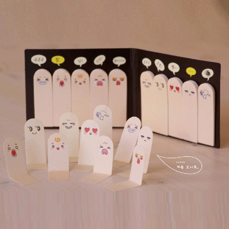 Cute Creative Finger Memo Pad Sticky Notes Kawaii Paper Sticker Papeleria Stationery Office School Supplies ON008