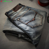 Famous Spring Summer Retro Nostalgia Straight Denim Jeans Men Plus Size 28-38 Casual Men Long Pants Trousers Brand Biker Jean